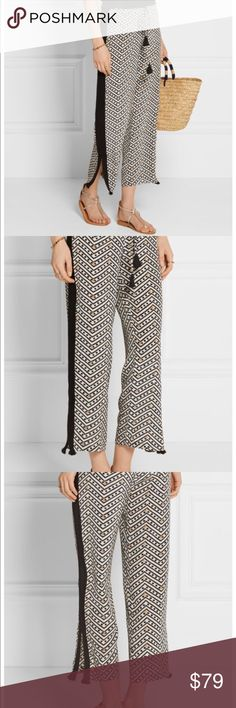 Figue silk wide leg pants Gorgeous, breezy and perfect for summer. Figue silk washed pants in Cova print. Drawstring waist, generous sizing. Labeled XS but could also fit S. Retailed on Net a Porter for $225. Excellent condition, no flaws. intermix Pants Wide Leg