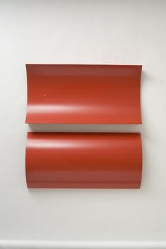 Charlotte PosenenskeRelief, Series B, 1967RAL red spray paint on sheet aluminum, concavely and convexly arched39 3/8 x 19 ...