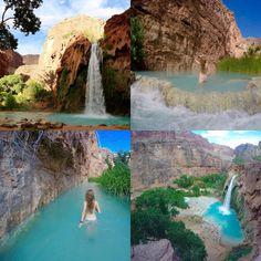 Havasu falls in Arizona, part of the Grand Canyon