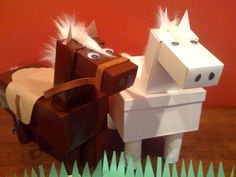 great horse Valentine's Box for kids class party/ valentine exchange.