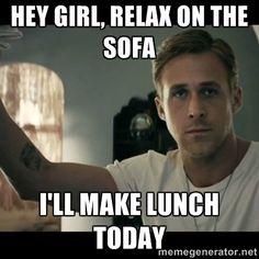 ryan gosling hey girl via Meme Generator