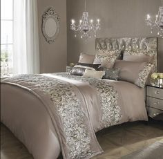 PETRA Nude bedding range by Kylie Minogue, Duvet / Pillowcases / Throw / Cush...