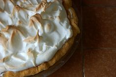 Lemon meringue pie with condensed milk not lemon curd style.