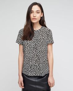 Graphic Poppy Silk T