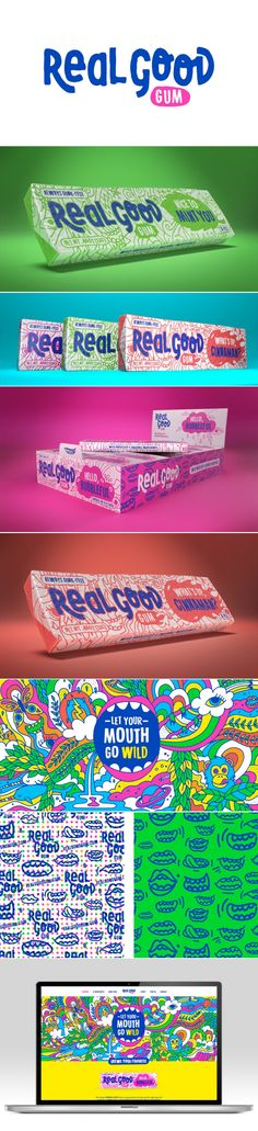 Parents and Kids will Love Chemical-Free Real Good Gum — The Dieline - Branding & Packaging Design
