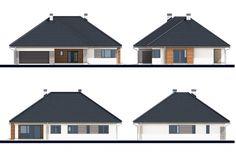 Projekt domu Kaprys IV , wizualizacja 2 Shed, Outdoor Structures, House, Barns, Sheds