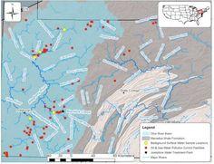 pennsylvania radioactive waste water map fracking