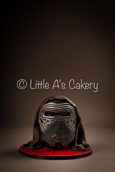 Kylo Ren 3D Birthday Cake www.littleascakery.co.uk