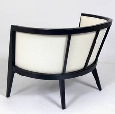Pair of Curvaceous Modern Lounge Chairs by Harvey Probber   From a unique collection of antique and modern club chairs at https://www.1stdibs.com/furniture/seating/club-chairs/