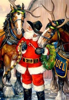 Hold your horses, Christmas is here! by Nona Hengen for Leanin' Tree
