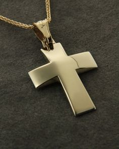 Σταυρός χρυσός Κ14 S Letter Logo, Cross Necklaces, Crosses, Men's Style, Wedding Cake, Baby Boy, Jewels, Mens Fashion, Diamond