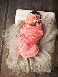 Cheesecloth infant wrap with coral infant by FeatherRiverBoutique, $15.00