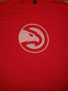 2aac89fc1b331e Atlanta Hawks NBA Basketball t-shirt Adult 3XL Red Georgia ATL Classic Logo   Tultex  AtlantaHawks