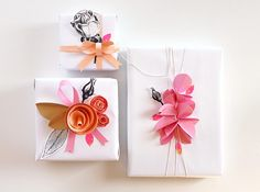 Janna Werner: gift wrapping inspiration | 6 easy to make wrappings - Giochi di Carta