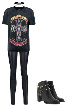 """Street style band tee"" by vankaa on Polyvore featuring Alice + Olivia, Boohoo and Miss Selfridge"