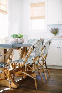 French Bistro Riviera Chairs By Serena And Lily. The Trestle Table With  Zinc Top Was Designed By The Interior Designer And Custom Made By Big  Daddyu0027s ...