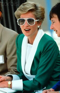 Princess Diana in Green Suit and Sunglasses - ZCV12809198 - Rights ...