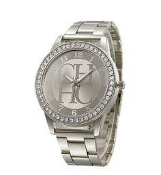 Dámské hodinky ve stříbrné barvě s nápisem na ciferníku kovový pásek  osazené bílými krystaly – DOPRAVA ZDARMA Na tento produkt se vztahuje nejen  zajímavá ... c15059d28d