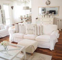 Ektorp Sofa in einem Vintage-Stil Wohnzimmer