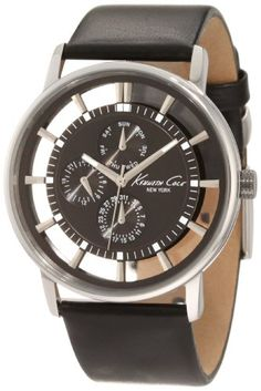 Men's Wrist Watches - Kenneth Cole New York Mens KC1853 Stainless Steel Watch with Leather Strap * Visit the image link more details.