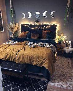 Dark Cozy Bedroom, Cozy Room, Bedroom Decor Dark, Room Ideas Bedroom, Home Bedroom, Bedrooms, Dream Rooms, Dream Bedroom, Aesthetic Bedroom