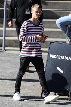 Justin Bieber wearing En Noir jeans & Adidas sneakers while out in Sydney. #4thofjuly #singer #instagram #brands