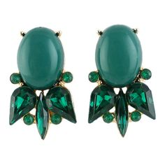 Green Gemstone Retro Silver Hollow Dangle Earrings (€4,45) ❤ liked on Polyvore featuring jewelry, earrings, silver jewellery, silver gemstone earrings, long earrings, green jewelry and gem jewelry