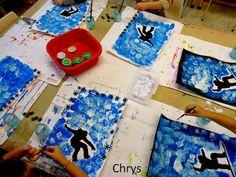 Le Journal de Chrys: Nos skieurs Winter Art, Art Centers, Education, Human Body, Children, Ski, Centre, Sports, Winter Time