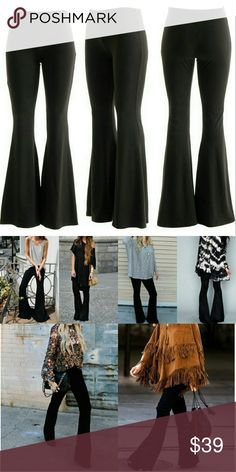 😍New to my Boutique😍 Bell bottom pants ♡♡♡♡♡♡♡♡♡♡♡♡♡♡♡ New addition to my boutique! ♡♡♡♡♡♡♡♡♡♡♡♡♡♡♡  Black trendy Bell bottoms   ***go great with so many different outfits**   PLUS SIZES and 1 XL Pants
