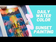 Daily WATERCOLOR #1 /Painting a Sunset - YouTube Daily Water, Facebook Art, Painting Process, Painting Tutorials, Art Pages, Say Hi, Serenity, Watercolor, Make It Yourself