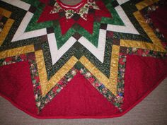 Christmas Tree Skirt:  Quilted