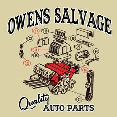 Owens Salvage t shirt design by Norwell