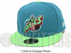 Seattle Supersonics Midnight Aqua Light Kiwi Green Bloodshot Red KD VI Supreme Matching New Era Hat