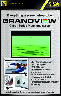 Grandview Cyber Motorised Screens