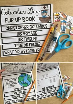 Cute, engaging activity for Columbus Day! Columbus Day Flip Up Book is PERFECT for squeezing in Columbus.
