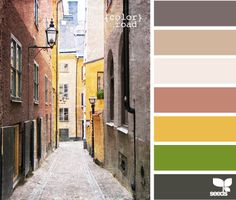 Like the first and last three colors, not sure about the lighter browns. . . .