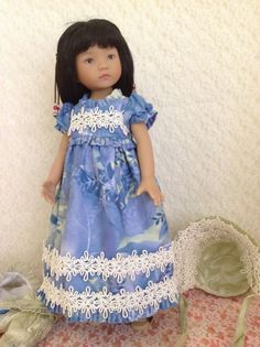 "Regency Dress and Spencer  from MHD Pattern  for Little Darling 13"" Doll"