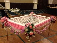 Lets some Blend of DIY in your Prettiest Phoolo ki Chadar for Bridal entry Bride Entry, Wedding Entrance, Wedding Mandap, Desi Wedding, Wedding Events, Wedding Ceremony, Weddings, Marriage Decoration, Wedding Stage Decorations