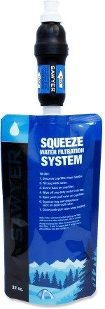 GOT IT - Sawyer Squeeze Water Filter- lightweight for backpacking- great reviews & inexpensive