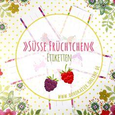 """""""Süße Früchtchen""""-Etiketten [reloaded] #Etiketten #freebie #Marmelade"""