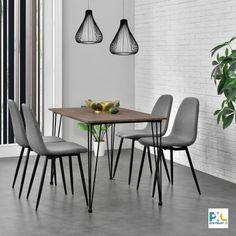 Táto stabilná kvalitná stolička čalúnená textilným poťahom má nie len elegantný dizajn, ale je aj skvele navrhnutá, má moderný čistý dizajn a vynikajúce úžitkové vlastnosti. Farba: sivá, výška: 86 cm, šírka: 46 cm, hĺbka: 54 cm, šírka sedadla: 47 cm, stabilné a pevné nohy - práškovo lakovaná oceľ, čalúnená textilná sedacia plocha, produkt značky [en.casa]