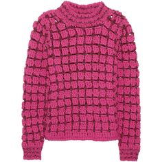 Marc Jacobs Hand-crocheted wool-blend sweater ($2,300) via Polyvore