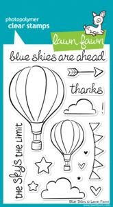 *Lawn Fawn BLUE SKIES Clear Stamps $14.94