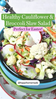 Clean Eating Breakfast, Clean Eating Diet, Clean Eating Recipes, Healthy Eating, Broccoli Slaw Salad, Vegan Picnic, Dinner Salads, Salad Ingredients, Healthy Salad Recipes