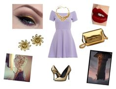 """""""Repunzel Goes Modern"""" by paisleypuppy ❤ liked on Polyvore featuring AX Paris, Once Upon a Time, Chanel, Oscar de la Renta, Marni, Pierre Balmain, Charlotte Tilbury, modern, women's clothing and women"""