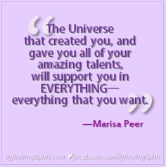 From the video featured in my blog post: http://www.affirmingspirit.com/blog/2017/05/marisa-peer-teach-your-mind/