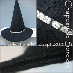 Chapeau de Sorcière Spécial TUTO DIY HALLOWEEN... Diy Halloween, Diy Costumes, Halloween Costumes, Photos Booth, Mittens, Sewing Patterns, Diy Crafts, Accessories, Capes