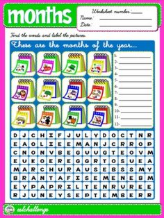 MONTHS WORKSHEET #