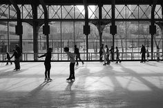 The Depot - indoor ice skating in the repurposed, picturesque Minneapolis train depot. A popular spot for weddings. Minneapolis St Paul, Minneapolis Minnesota, Figure Ice Skates, Figure Skating, Outdoor Skating Rink, Winter Family Pictures, Ice Rink, Skate Party, Indoor Photography