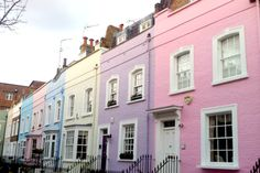 pastel houses of London